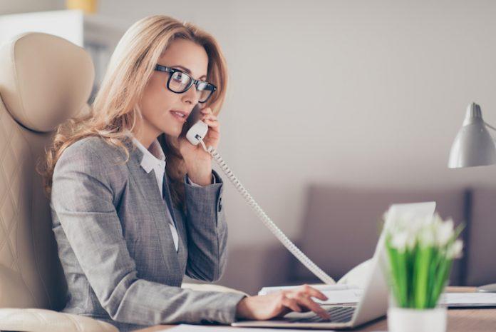 Geschäfts-Telefonat